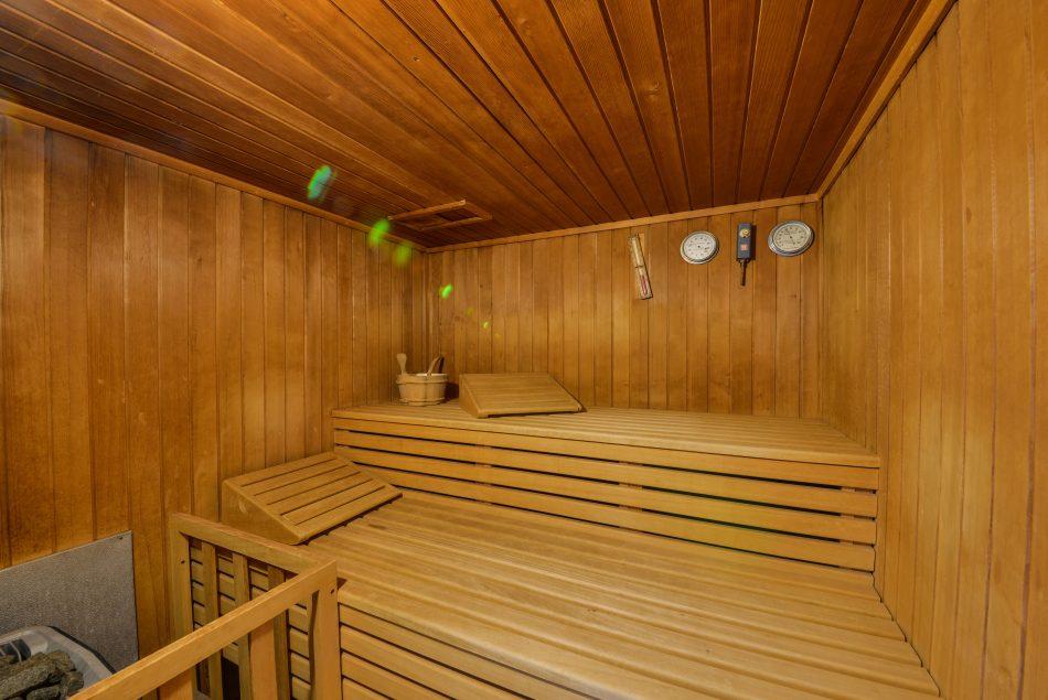 Sauna in den Appartments