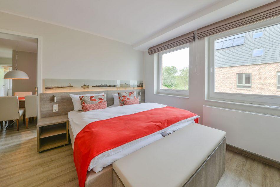 Doppelbett im Apaprtment Memmertsand in Meyenburg 6 Gerds Höft