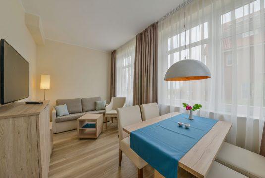 Wohnbereich im Appartment Billriff in Meyenburg & Gerds Höft