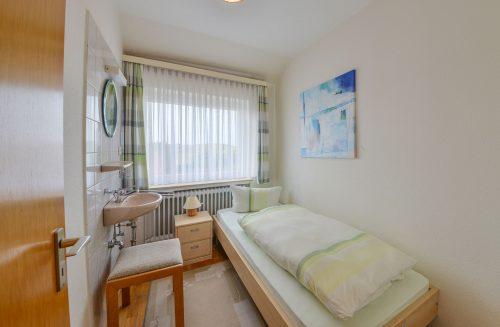 Einzelbett im Appartment Wattblick vom Meyenburg & Gerds Höft