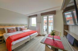 Doppelbett im Appartment Lütje Hörn von Meyenburg & Gerds Höft auf Juist