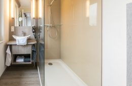 Dusche vom Appartment Lütje Hörn von Meyenburg & Gerds Höft auf Juist