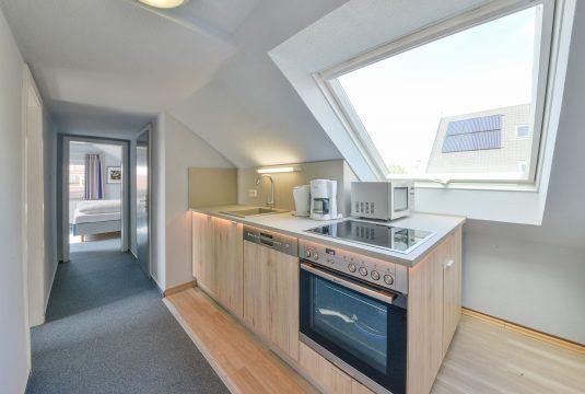 Küche im Appartment Norderoog von Meyenburg & Gerds Höft auf Juist