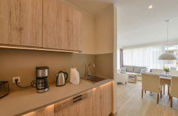 Küche im Appartment Kalfarmer von Meyenburg & Gerds Höft auf Juist