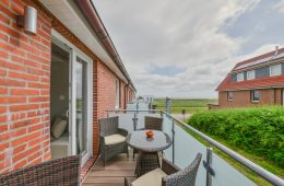 Terrasse vom Appartment Memmertsand von Meyenburg & Gerds Höft auf Juist