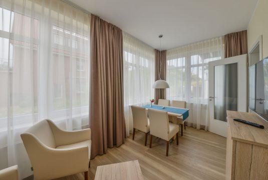 Wohnbereich im Appartment Billriff von Meyenburg & Gerds Höft