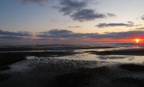Wattenmeer vor Juist bei Dämmerung